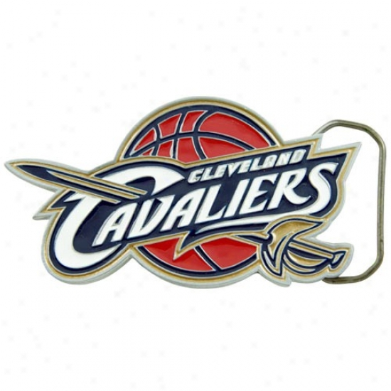Cleveland Cavaliers Pewter Team Logo Belt Buckle