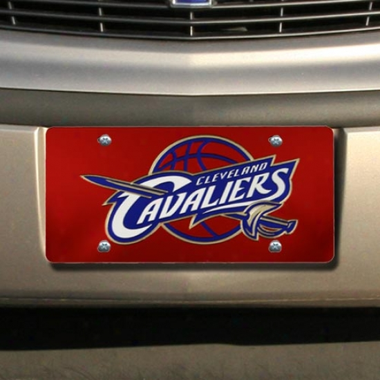 Cleveland Cavaliers Red Mirror License Plate