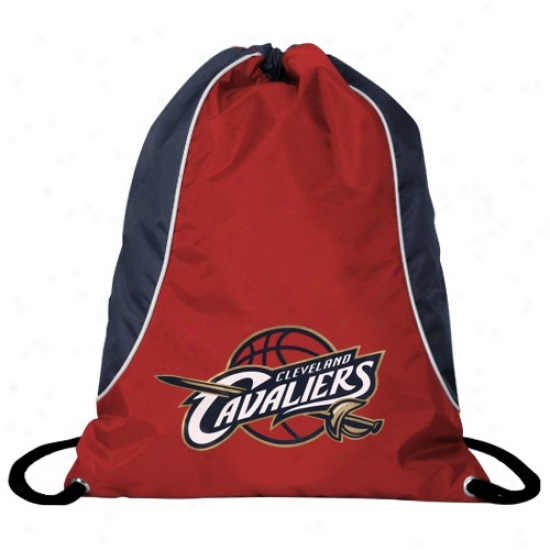 Cleveland Cavaliers Red-navy Blue Axis Drawstrinng Backpack