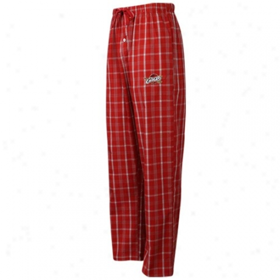 Cleveland Cavaliers Red Plaid Genuine Pajama Pants