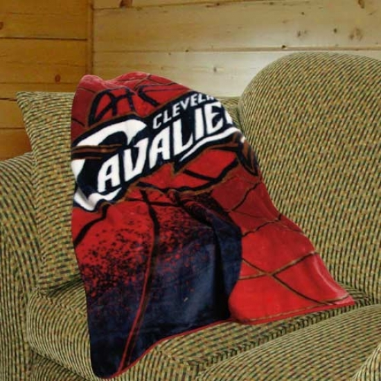 Cleveland Cavaliers Red Reflect Royal Plush Blanket Throw