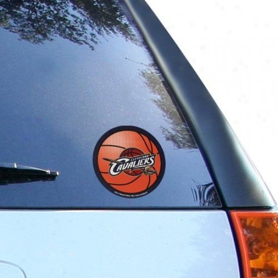 Cleveland Cavaliers Round Vinyl Basketball Decal