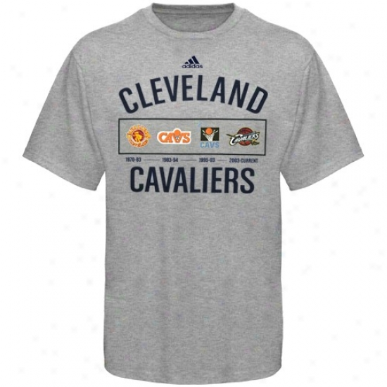 Cleveland Cavaliers Shirts : Adidas Cleveland Cavaliers Ash Decadence Shirts