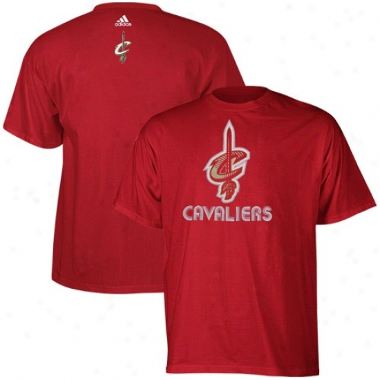 Cleveland Cavaliers T Shirt : Adidas Cleveland Cavaliers Wine Sonic Rush T Shirt
