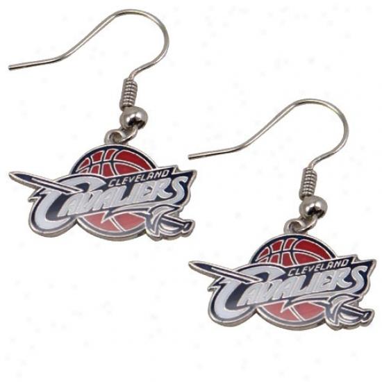 Cleveland Cavaliers Team Logo Dangle Earrings