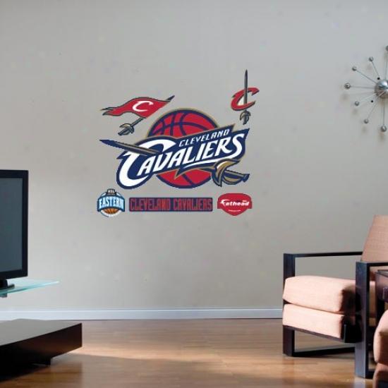 Cleveland Cavaliers Team Logo Fathead Wall Sticker