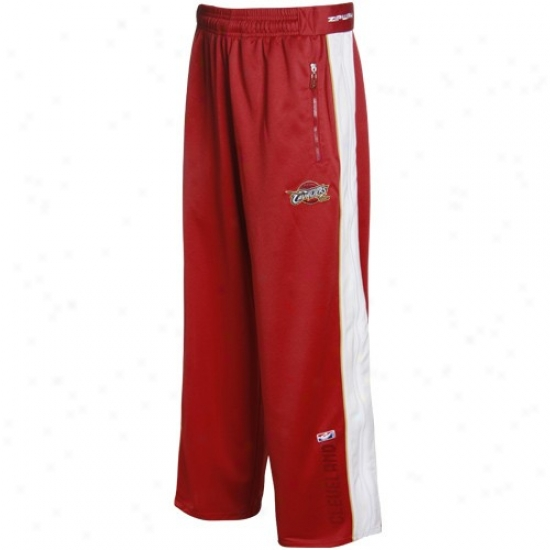 Clevelaand Cavaliers Wine Digital Zip-up Pants