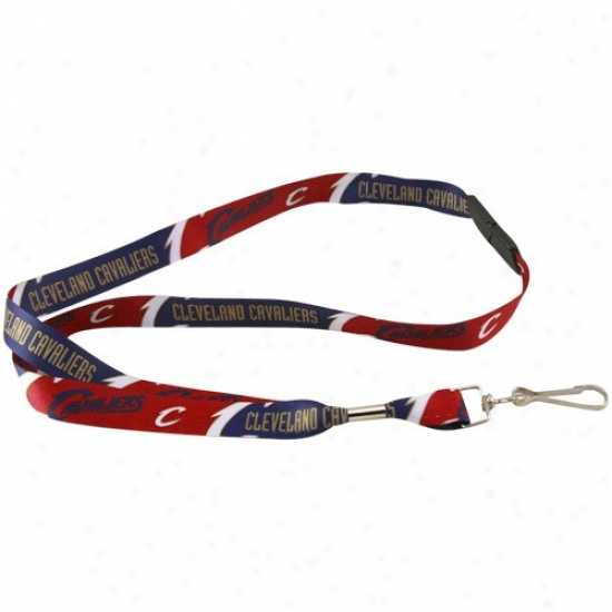 Cleveland Cavaliers Wine-navy Blue Event Lanyard