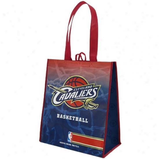 Cleveland Cavaliers Wine-navy Blue Fade Reusable Tote Bag