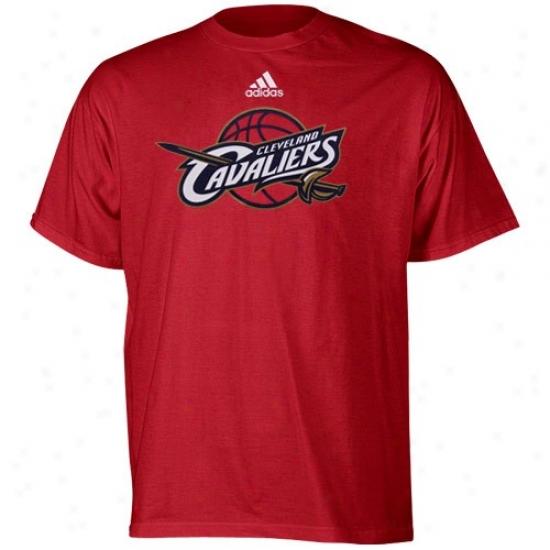 Cleveland Cavs Apparel: Adidas Cleveland Cavs Youth Wine Primary Logo T-shirt