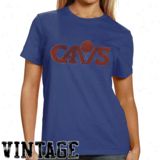 Cleveland Cavs Apparel: Banenr '47 Cleveland Cavs Ladies Heather Blue Scrum Premium T-shirt