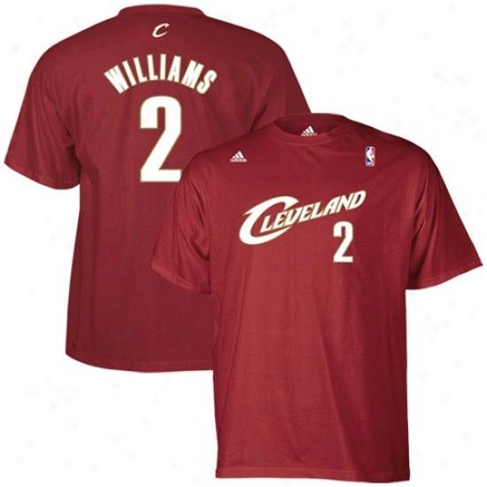 Cleveland Cavs Attire: Adidas Cleveland Cavs #2 Mo Williams Wine Net Actor T-shirt