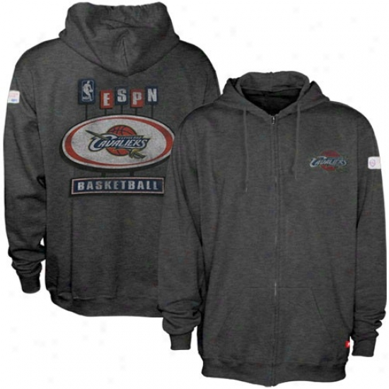 Clevelanx Cavs Hoodie : Sportiqe-espn Cleveland Cavs Charcoal Pancakes Distressed Full Zip Hoodie