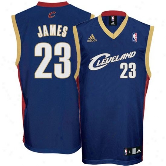 Cleveland Cavs Jersey : Adidas Cleveland Cavs #23 Lebron James Navy Blue Replica Basketball Jersey