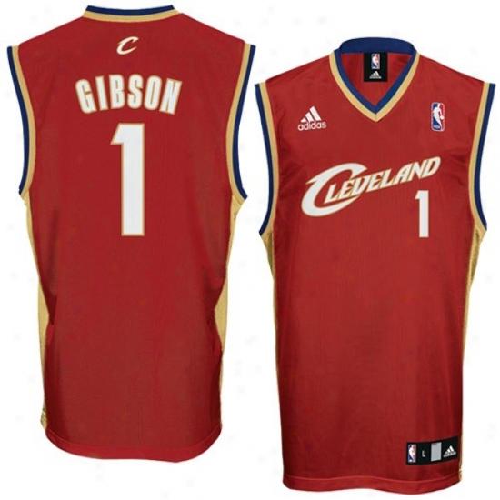 Cleveland Cavs Jerseys : Adidas Cleeland Cvas #1 Daniel Gibson Crimson Autograph copy Basketball Jerseys