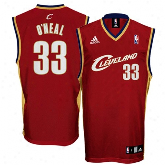 Cleveland Cavs Jerseys : Adidas Cleveland Cavs #33 Shaquille O'neal Wine Replica Basketball Jerseys
