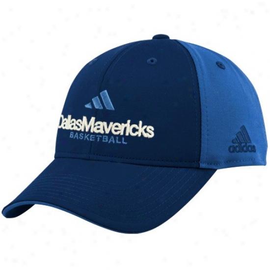 Dallas Mav Cap : Adidas Dallas Mav Navy Blue-light Blue Multi Team Color Structured Cap