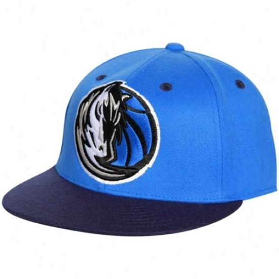 Dallas Mav Cap : Adidas Dallas Mav Royal Blue-navy Blue 210 Fitted Flexfit Flat Brim Cap