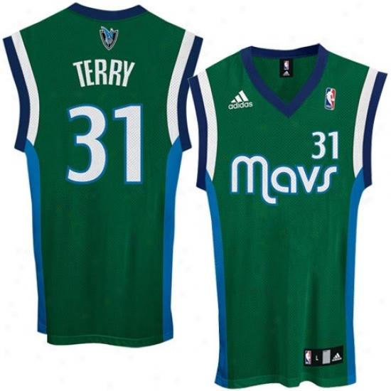 Dallas Mav Jerseys : Adidas Dallas Mav #31 Jason Terry Green Replica Basketball Jerseys