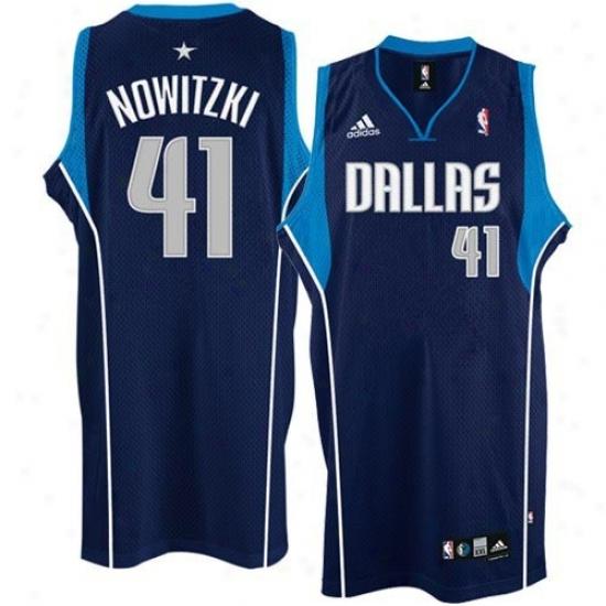 Dwllas Maverick Jersey : Adidas Dallas Maverick #4 1Dirk Nowitzki Navy Blue Youth Swingman Jersey