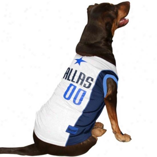 Dallas Mavericks #00 White Fondling Mesh Jersey