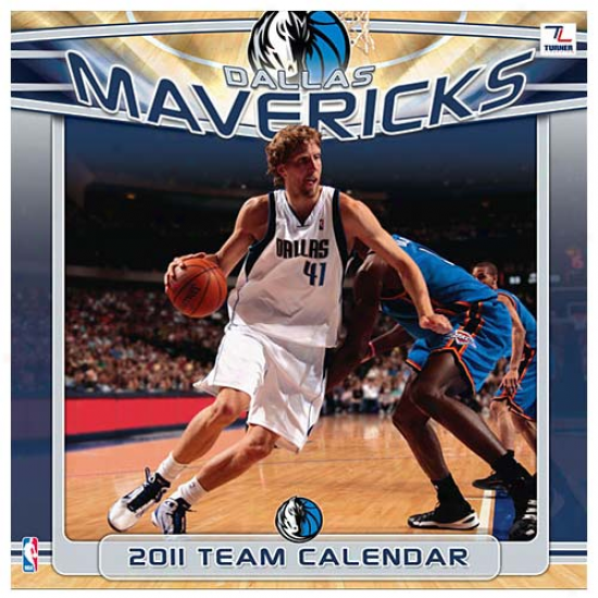 Dallas Mavericks 2011 Wall Calendar