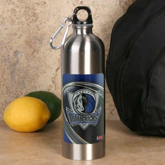 Dallas Mavericks 750ml Stainless Steel Water Bottle W/ Carabiner Clip