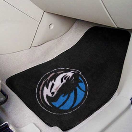 Dallas Mavericks Black 2-piece Carpet Car Interweave Set