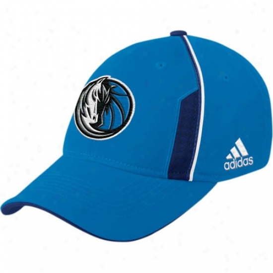 Dallas Mavericks Hat : Adidas Dallas Mavericks Royal Blue Official Team Flex Fit Hat