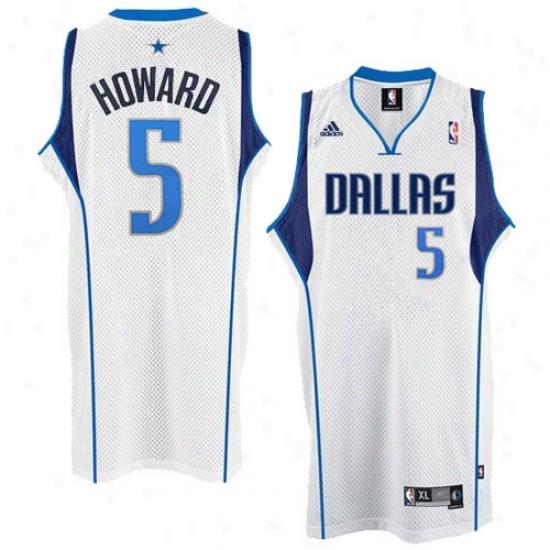 Dallas Mavericks Jersey : Adidas Dallas Mavericks #5 Josh Howard White Swingman Basketball Jersey