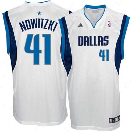 f4ca44ecc53 Dallas Mavericks Jerseys : Adidas Dallas Mavericks #41 Dirk Nowitzki White  Replica Basketball Jerseys