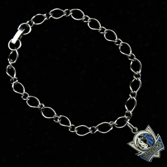 Dallas Mavericks Ladies Silver-tone Charm Bracelet
