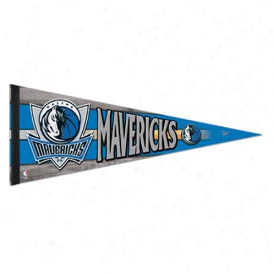 Dallas Mavericks Light Blie 12'' X 30'' Premium Felt Pendant