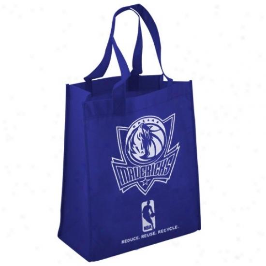 Dallas Mavericks Navy Blue Reusable Tote Bag