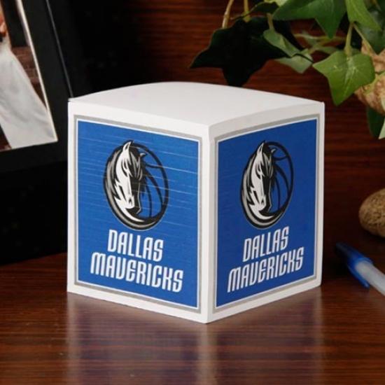 Dallas Mavericks Note Cube