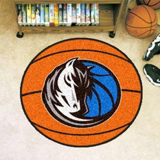 Dallas Mavericks Otange Round Basketball Mat