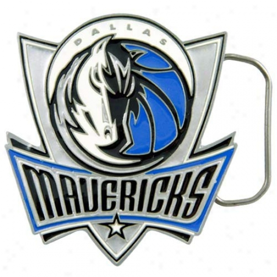 Dallas Mavericks Pewter Team Logo Belt Buckle