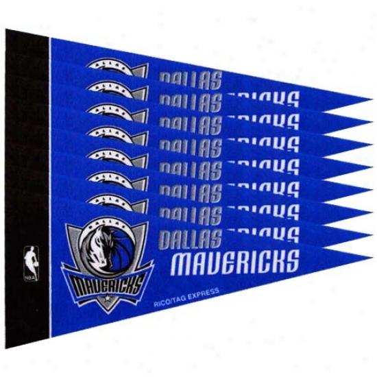 Dallas Mavericks Royal Blue 8-pack Mini Pennant Set