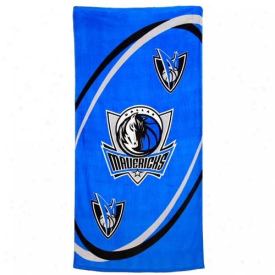 Dallas Mavericks Royal Blue Swirl Beach Towel