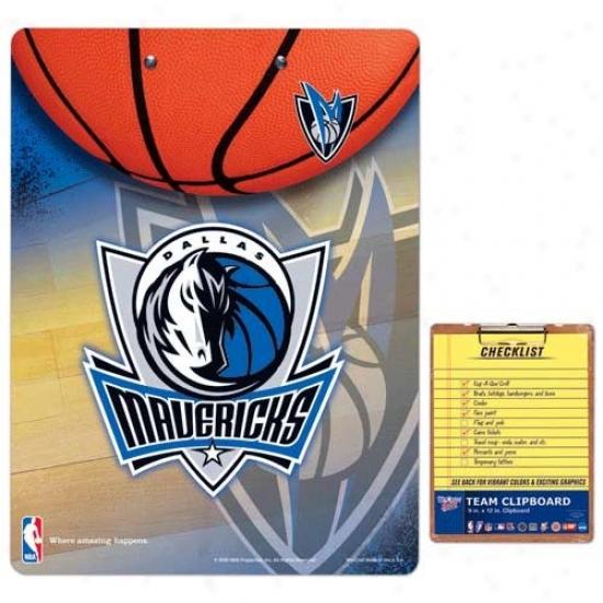 Dallas Mavericks Team Logo Clipboard