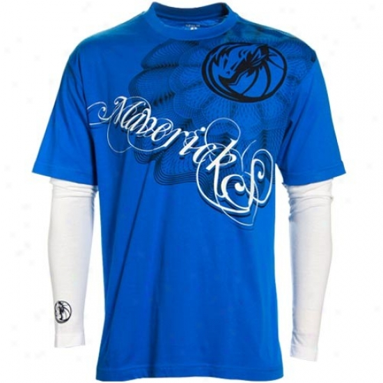 Dallas Mavericks Tshirt : Dallas Mavericks Royal Melancholy Double ...