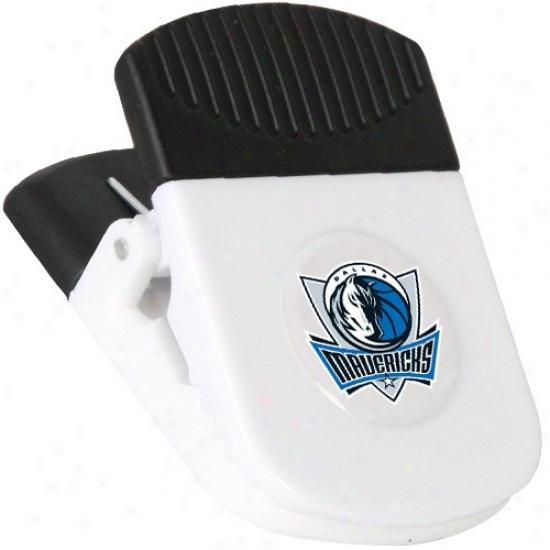 Dallas Mavericks White Magnetic Chip Clip