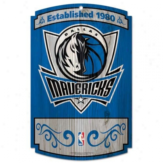 Dallas Mavericks Wood Sign