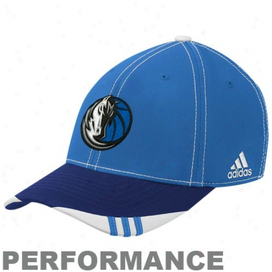 Dallas Mavs Caps : Adidas Dallas Mavs Blue-navy Blue Official On Court Flex Fit Caps