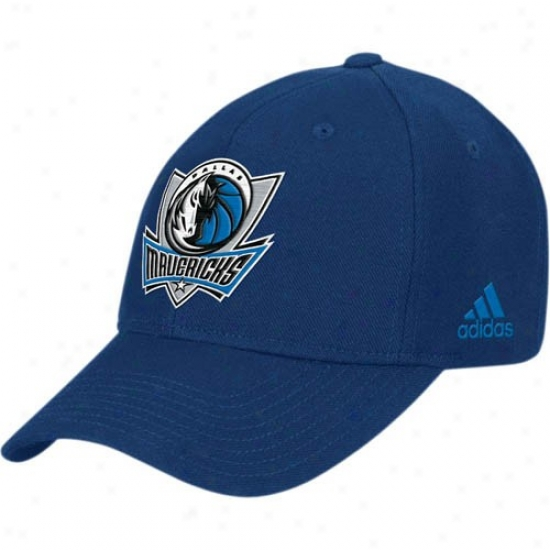 Dallas Mavs Hat : Adidas Dallas Mavs Ships of war Blue Basic Logo Cottpn Adjustable Hat
