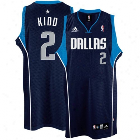 Dallas Mavs Jersey : Adidas Dallas Mavs #2 Jason Kidd Navy Blue Swingman Basketball Jersey