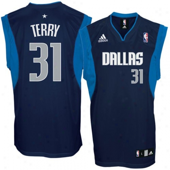 Dallas Mavs Jersey : Adidas Dallas Mavs #31 Jason Terry Navy Blue Replica Basketball Jerseys