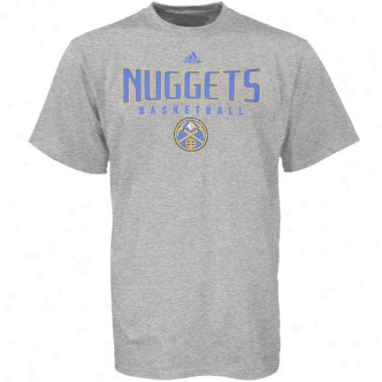 Denver Nugget Apparel: Adidas Denver Nugget Ash Absolute T-shirt