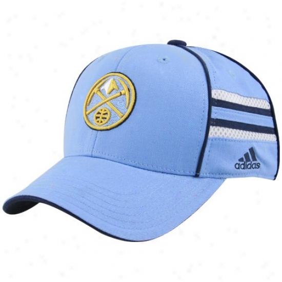 Denver Nugget Cqp : Adidas Denver Nugget Youth Light Blue Pro Shape Flex Fit Cap