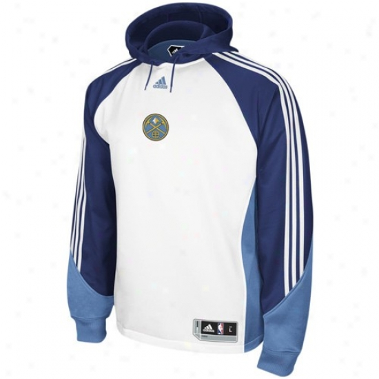 6389eda1caa Denver Nhgget Fleece : Adidas Denver Nugget White Pre-game Performance  Fleece